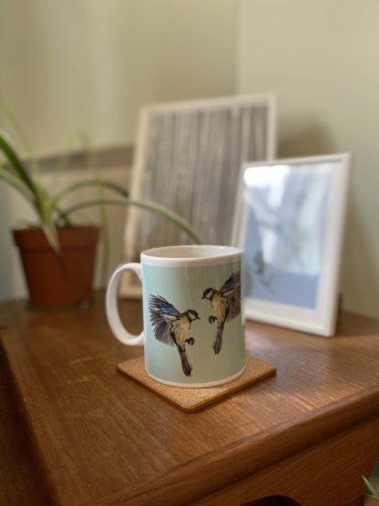 Product Ceramic Blue Tit Bird Mug