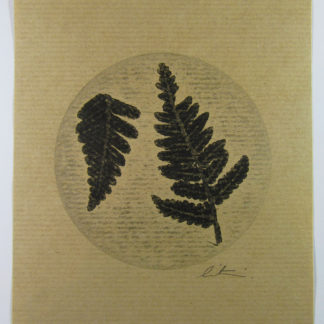 Product Fern Mono Print black and white on brown paper
