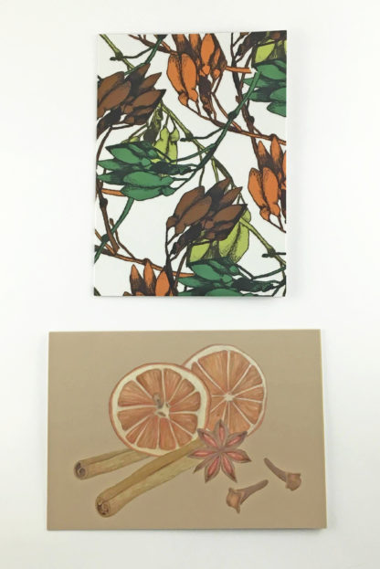 Quints Prints Card Selection Sycamore Key Spice Christmas Flower
