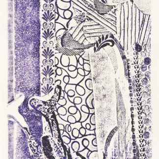 Original Relief Collagraph Print Mushroom Forest